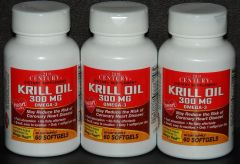 21st Century Krill Oil 300mg Softgels 60ct (Compare to Mega Red Krill Oil) -3 Pack