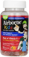 Airborne Kids Immune Support Supplement with Vitamin C Chewable Gummies, 42 Ct