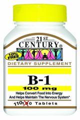 21st Century Vitamin B-1 100mg Tablets 110ct