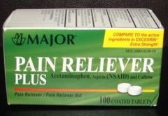 Pain Reliever Plus for Migraines by Major (Compare to Excedrin Extra Strength) 100ct
