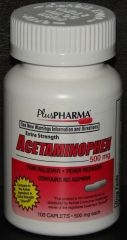 Acetaminophen Extra Strength 500mg Tablets 100ct by PlusPharma (Compare to Tylenol Extra Strength)