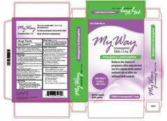 My Way Emergency Contraceptive Plan B (Levonorgestrel 1.5mg)