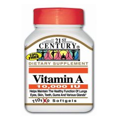 21st Century Vitamin A 10000IU Softgels 110ct