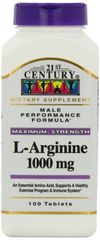 21st Century L-Arginine 1000 Mg Tablets 100ct