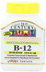 21st Century Vitamin B12 2500mcg High Potency Tablets 110ct