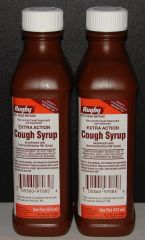 Rugby Extra Action Cough Syrup & Expectorant (Compare to Robitussin DM) 16oz Bottle -2 Pack