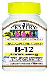 21st Century Vitamin B-12 1000mcg Prolonged Release Tablets 110ct