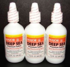Deep Sea Nasal Saline Spray by Major (Compare to Ocean Nasal Spray 0.65%)- 3 Bottles 45mL