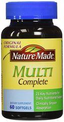 Nature Made Multi-Complete Liquid Softgels, 60-Count