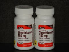 Simethicone Gas Relief 180mg 60ct (Compare to Ultra Strength Phazyme) -2 Pack