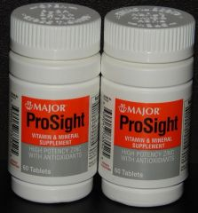 Major Prosight Vitamin and Mineral Supplement (Compare to Ocuvite) 60ct -2 Pack