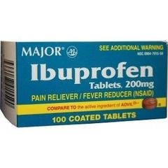 Ibuprofen 200mg Pain Reliever 100ct by Major (Compare to Advil)