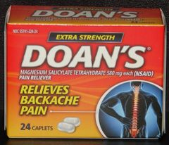 Doans Extra Strength Back Pain Relief Magnesium Salicylate 24ct