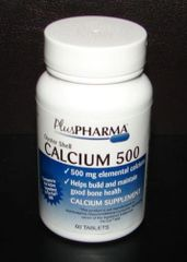 Calcium 500mg by PlusPharma (Compare to Os-Cal 500) 60ct