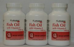 PlusPharma Fish Oil with Vitamin E 1000mg 100ct -3 Pack