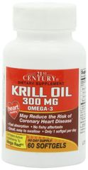 21st Century Krill Oil 300mg Softgels 60ct (Compare to Mega Red)