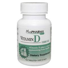 Vitamin D 1000iu Tablets by PlusPharma 100ct