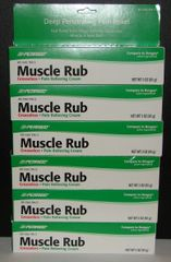 Muscle Rub Cream (Compare to Bengay) 3oz Tube - 6 Pack