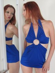 Blue Bright Bold Clubwear Top - One Size Fits Most