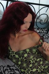 Green and Brown Exotic Retro 70's Style Mini Dress