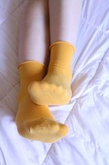 Yellow Casual Pre-Owned Socks