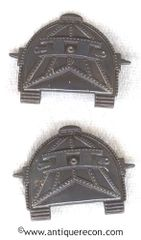 WW I US ARMY TANK OFFICER COLLAR INSIGNIA - REPRODUCTION