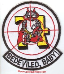 US NAVY VF-74 BEDEVILED BABY PATCH