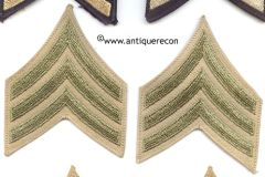 WW II US ARMY SARGENT STRIPES - KHAKI
