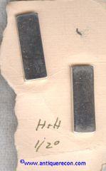 US MARINE CORPS 1st LIEUTENANT SHIRT SIZE RANK INSIGNIA - H & H