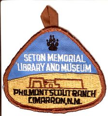 BOY SCOUTS SETON MEMORIAL LIBRARY AND MUSEUM PHILMONT SCOUT RANCH PATCH