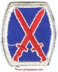 WW II US ARMY 10th INFANTRY DIVISION PATCH