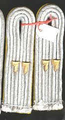 WW II GERMAN ARMY 77th of the 5th PANZER DIVISION LIEUTENANT SEW IN SHOULDER BOARDS