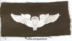 WW II US ARMY BALLOON OBSERVER WING - GABARDINE