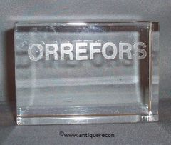 ORREFORS CRYSTAL DISPLAY SIGN