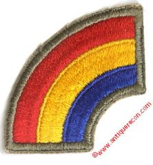 WW II US ARMY 42nd INFANTRY DIVISION PATCH