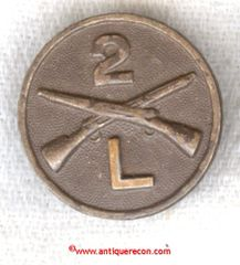 WW I US ARMY 2nd INFANTRY COMPANY L COLLAR DISK