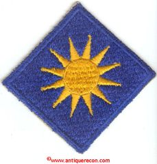 WW II US ARMY 40th INFANTRY DIVISION PATCH