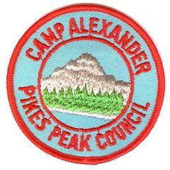 BOY SCOUT PIKES PEAK COUNCIL CAMP ALEXANDER PATCH 1970's