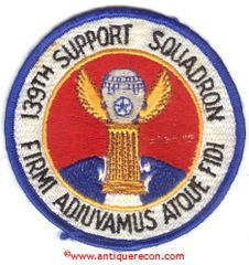 USAF 139th SUPPORT SQUADRON PATCH