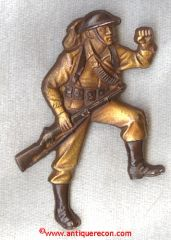 WW I SWEETHEART SOLDIER BROOCH - HOME FRONT