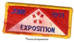 BSA EXPOSITION JUNE 1971 PATCH - USED