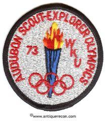 BSA AUDUBON SCOUT EXPLORER OLYMPICS 1973 PATCH