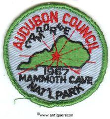 BSA AUDUBON COUNCIL CAMPOREE 1967 MAMMOTH CAVE PATCH