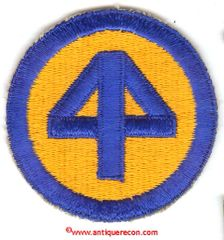 WW II US ARMY 44th INFANTRY DIVISION PATCH
