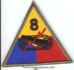 US ARMY 8th ARMORED DIVISION PATCH