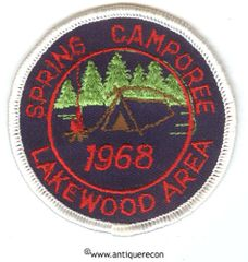 BSA SPRING CAMPOREE LAKEWOOD AREA 1968 PATCH