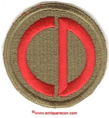 WW II US ARMY 85th INFANTRY DIVISION PATCH