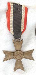 WW II NAZI GERMAN WAR MERIT CROSS 2nd CLASS WITHOUT SWORDS