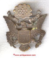 WW I US ARMY OFFICER VISOR EAGLE