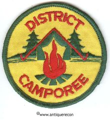 BSA DISTRICT CAMPOREE PATCH - GENERIC